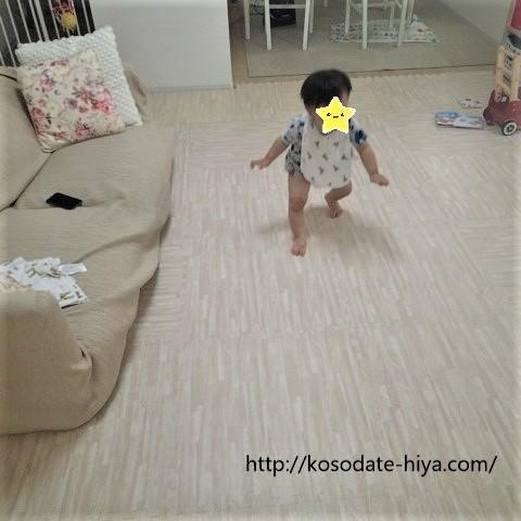 【1才3か月】息子、ついに歩き始める!ハイハイ期からたっち、つたい歩きを経て歩くまでの道のりを公開★歩き始めたら寝かしつけが劇的に楽になった?!