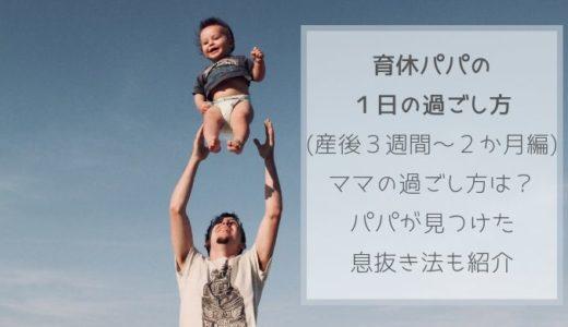 育休パパの1日の過ごし方(産後3週間~2か月編)ママの過ごし方は?パパが見つけた息抜き法も紹介